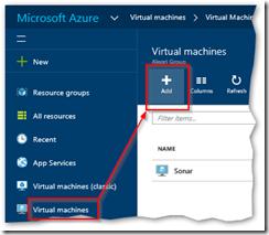 New Azure VM