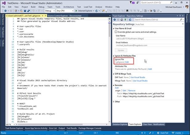 Where is my git ignore file in Visual Studio? – writeabout net