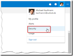 Security section in VSTS