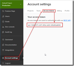 Account settings-AcessToken